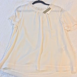 J. Crew sheer blouse